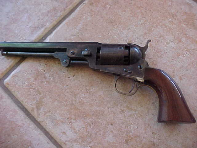Excellent Plus Colt 1851 Navy Revolver, Gun is Near Mint, Vivid Case Colors, Blue, Scene, 1861,