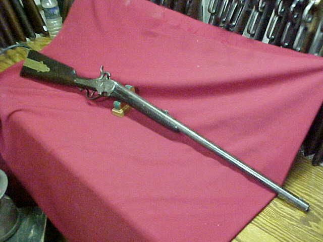 "#2103 Sharps Model 1851 ""Box-Lock"" Round Barreled Sporting Rifle, 28""x90-bore percussion"